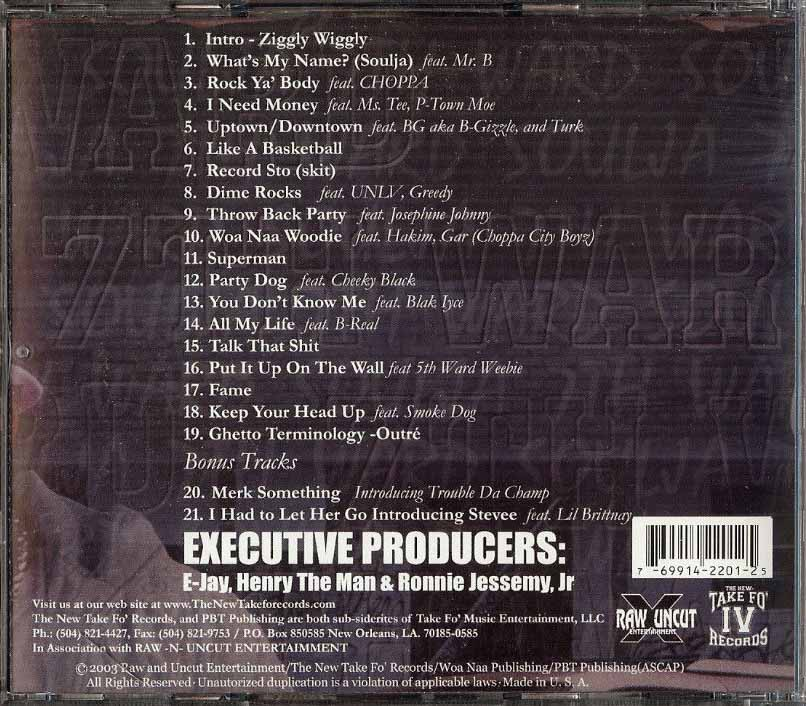 Ghetto Terminology by 7th Ward Soulja (CD 2003 Raw And Uncut